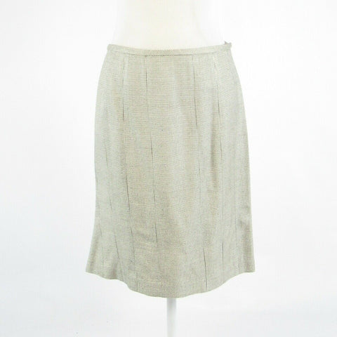 Heather gray pique 100% silk ETCETERA pencil skirt 6-Newish