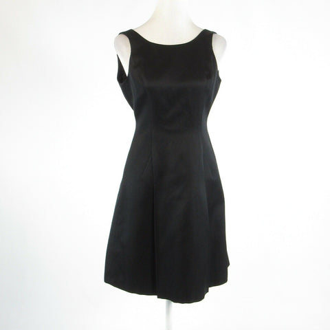 Black cotton blend TALBOTS sleeveless A-line dress S