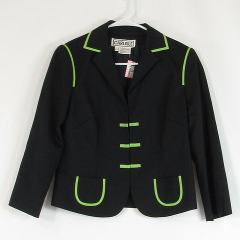 Black green 100% cotton CARLISLE blazer jacket 4