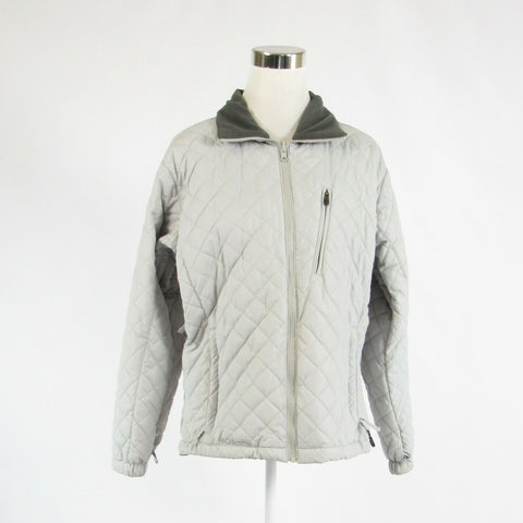 Light gray diamond quilted COLUMBIA long sleeve jacket L-Newish