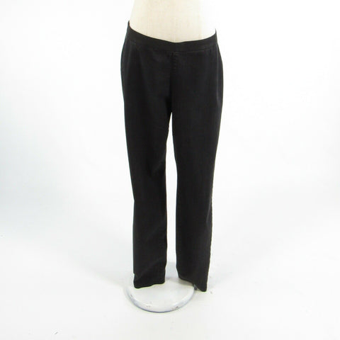 Black cotton blend EILEEN FISHER stretch leggings jeggings jeans M