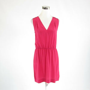 Fuchsia pink 100% silk JOIE sleeveless sheath dress S