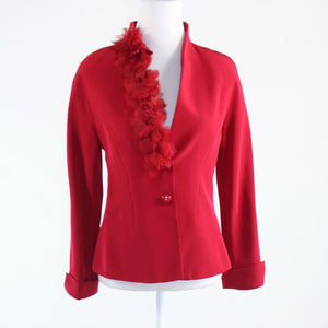 Red button front SIMORRA long sleeve jacket 44-Newish