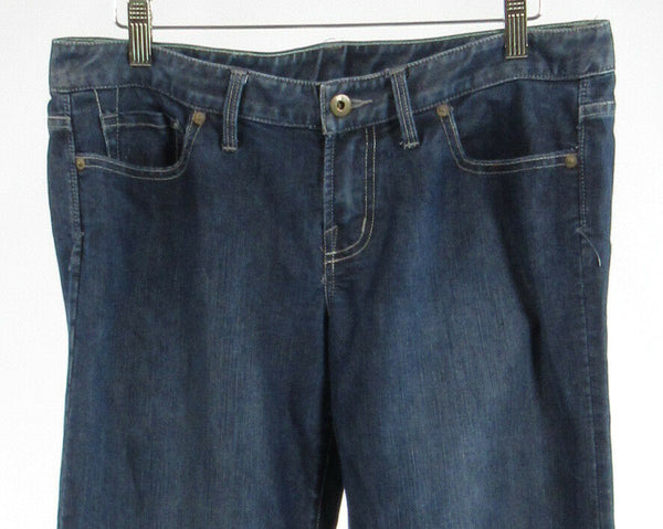 Dark rinse cotton X2 QUALITY DENIM wide leg jeans 10