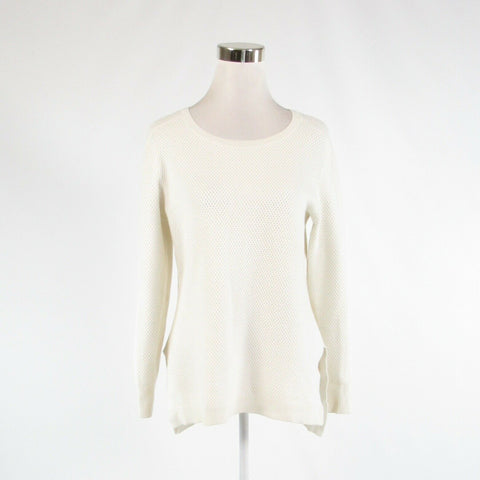 Ivory ATHLETA long sleeve crewneck sweater M