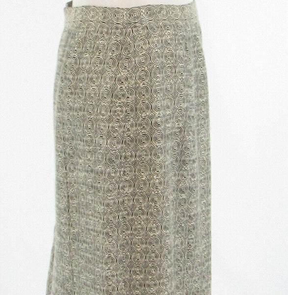 Black ivory textured ETCETERA pencil skirt 6-Newish