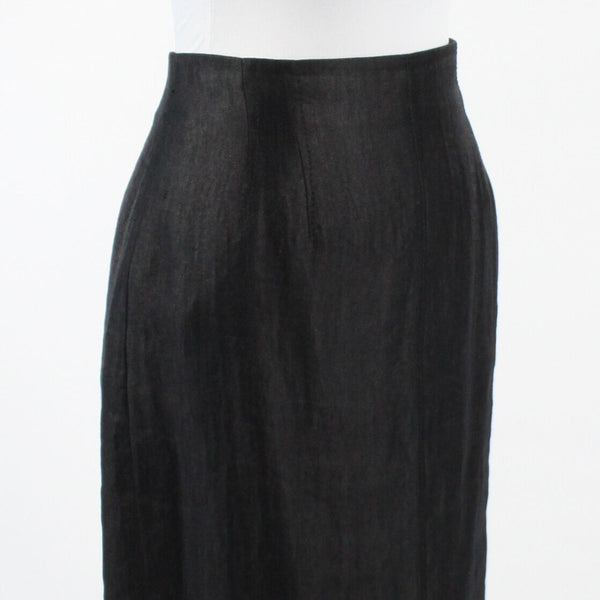 Black rayon ANN TAYLOR straight stretch knee length skirt 6-Newish