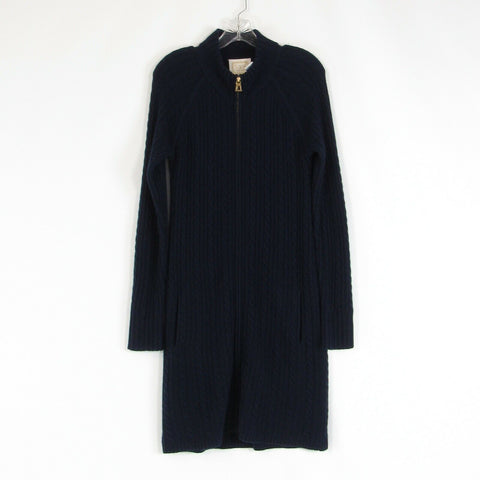 Navy blue wool blend SAIL TO SABLE sweater dress M