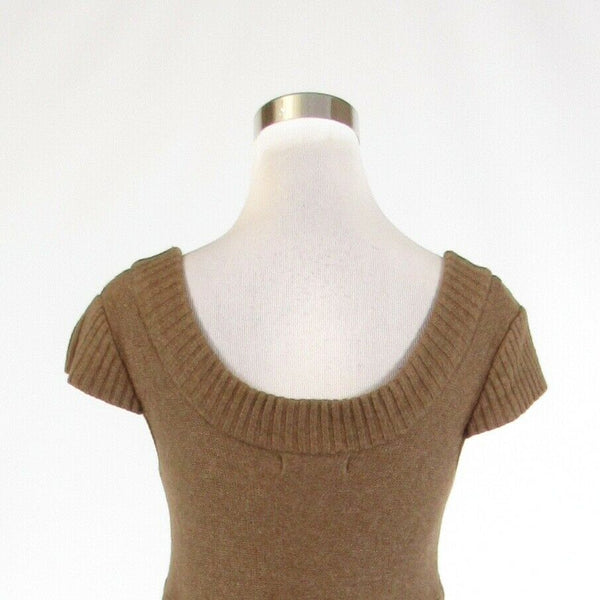 Light brown KAISELY cap sleeve scoop neck sweater M