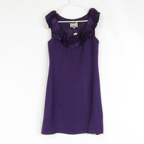 Purple ANTHROPOLOGIE YOANA BARASCHI sheath dress 0