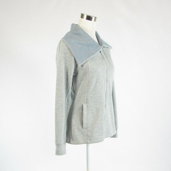 Heather gray cotton blend PUMA long sleeve fleece jacket M-Newish