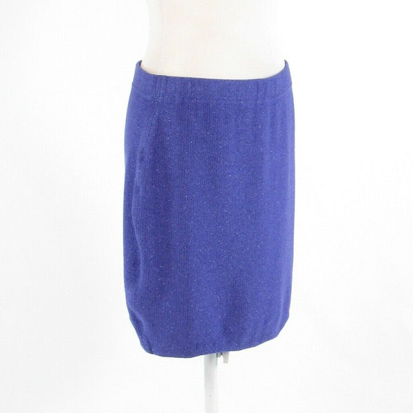 Periwinkle purple cotton blend ST. JOHN COLLECTION knit skirt 12-Newish