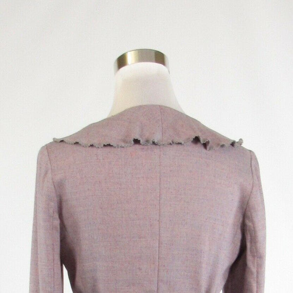 Mauve purple wool blend THE WRIGHT'S long sleeve blazer jacket 6-Newish