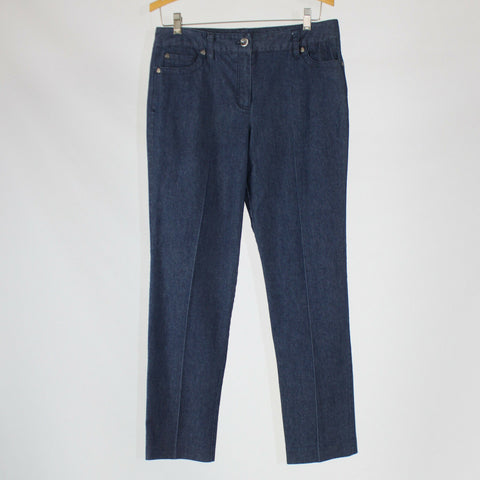 Medium cotton blend NEW DIRECTIONS straight leg jeans 8
