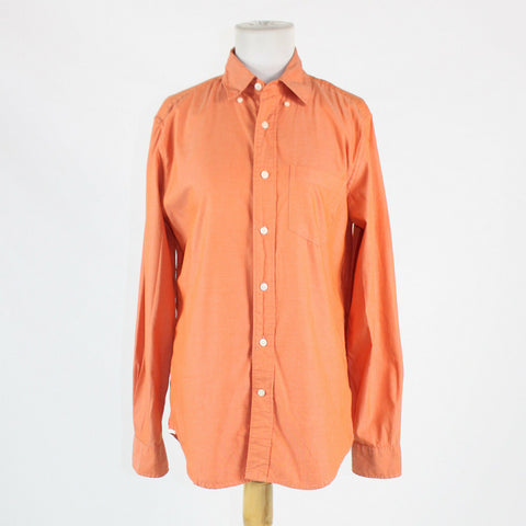 Orange 100% cotton GAP long sleeve classic fit button down shirt S-Newish