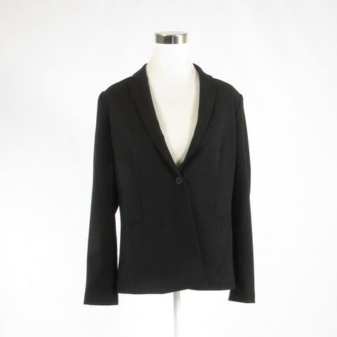 Black TAHARI long sleeve blazer jacket 10 46-Newish
