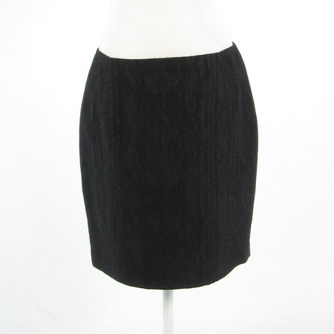 Black textured TAHARI pencil skirt 8 44-Newish