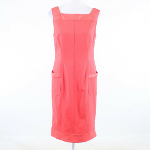 Salmon pink KAY UNGER sleeveless sheath dress 12
