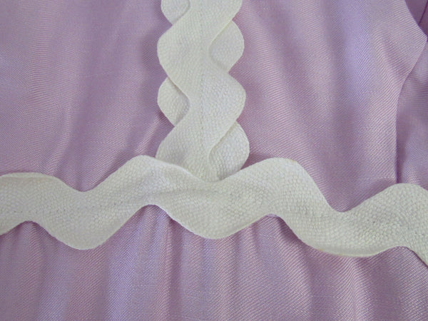 Light purple ivory cotton blend sleeveless vintage maxi dress S-Newish