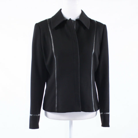 Black LANA LEE long sleeve blazer jacket 10