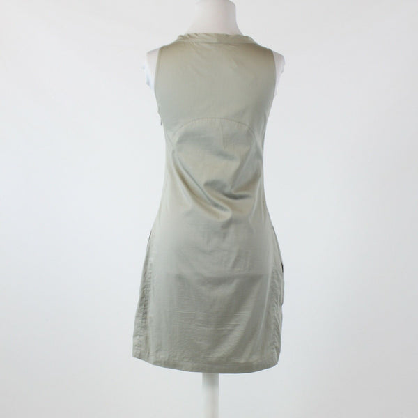 Light gray 100% cotton KOOKAI sleeveless scoop neck shift dress FR38 8