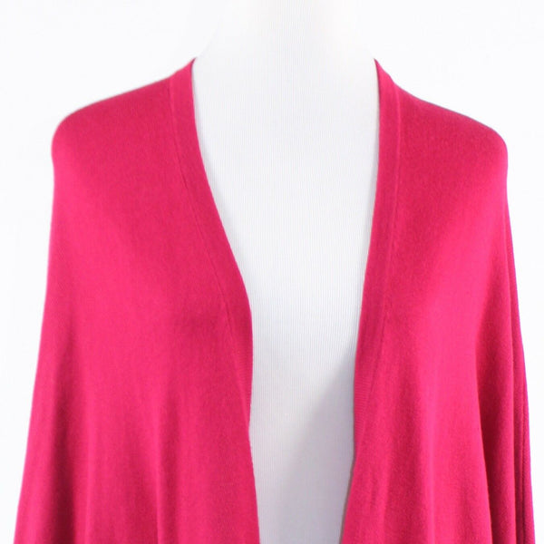 Bright pink ANN TAYLOR LOFT long batwing sleeve swing sweater M-Newish