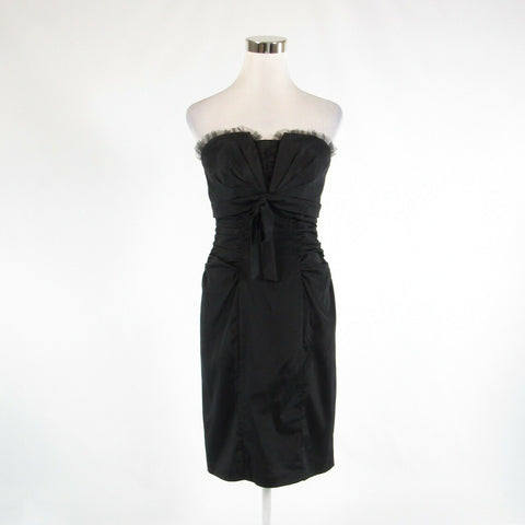 Black CACHE stretch sleeveless sheath dress 10