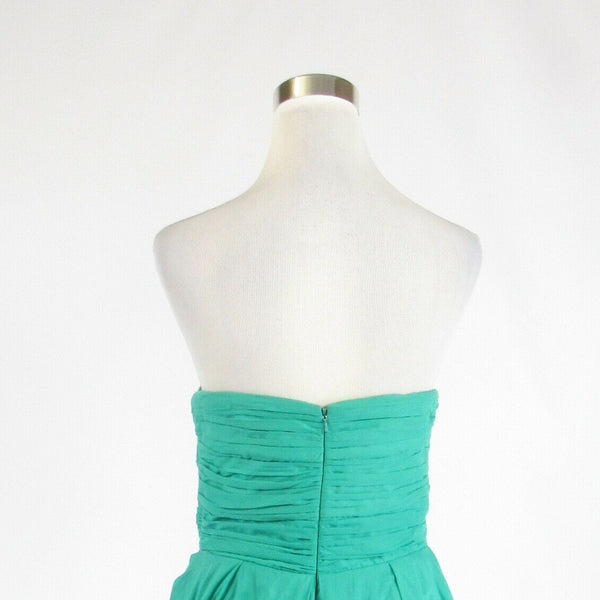 Mint green 100% cotton JESSICA SIMPSON strapless empire waist dress 12-Newish