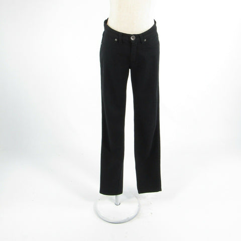 Black cotton blend SISLEY stretch skinny jeans 28