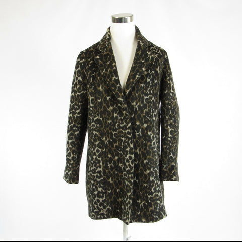 Brown black cheetah VIGOSS long sleeve coat S