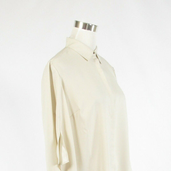Light beige H BY HALSTON bell sleeve button down blouse S NWOT-Newish