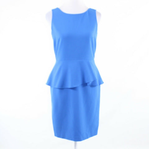 Blue ANN TAYLOR stretch sleeveless peplum dress 2