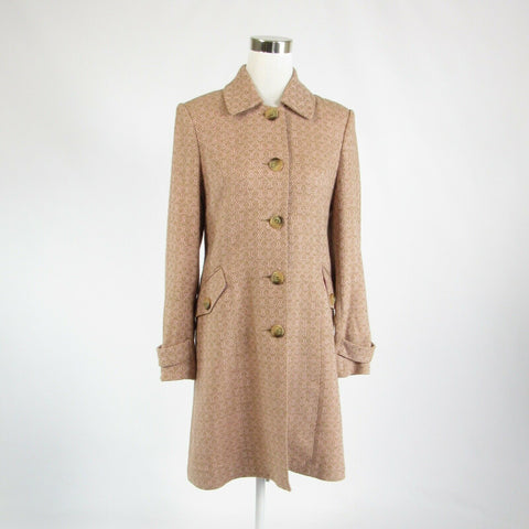 Light pink khaki diamond BARAMI long sleeve peacoat 8-Newish
