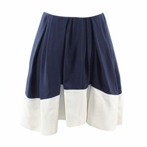 Navy blue ivory color block 100% silk 3.1 PHILLIP LIM pleated skirt 4