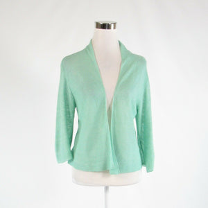 Seafoam green 100% linen EILEEN FISHER 3/4 sleeve cardigan sweater S-Newish