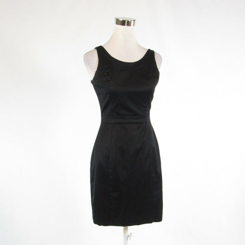 Black twill BANANA REPUBLIC sleeveless sheath dress 0