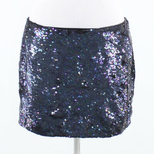 Black disco sequin ARMANI EXCHANGE mini skirt 8-Newish
