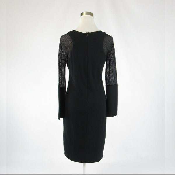 Black TWENTY stretch long sleeve sheath dress L-Newish