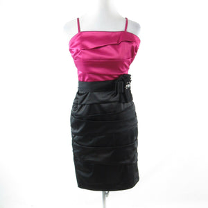 Fuchsia pink black color block WHITE HOUSE BLACK MARKET bodycon dress 4