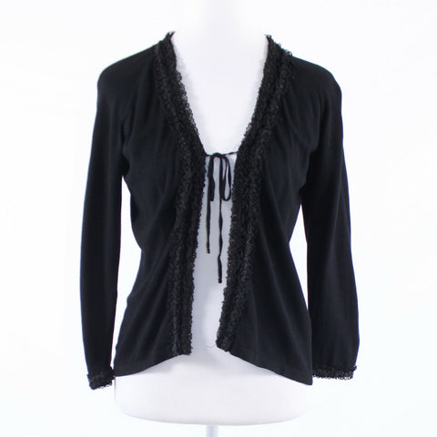 Black L.K. BENNETT 3/4 sleeve cardigan sweater L