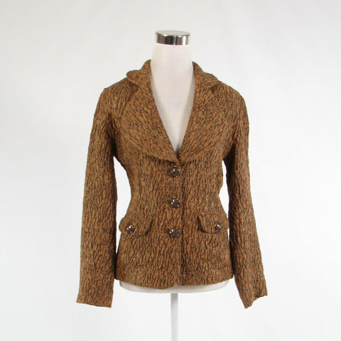 Light brown textured BAXIS and BAXIS long sleeve blazer jacket S