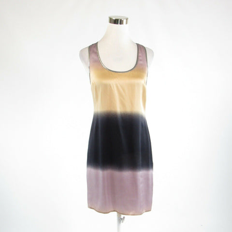 Beige black ombre satin ANTHROPOLOGIE PLENTY BY TRACY REESE sheath dress 4