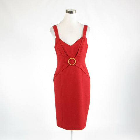 Maroon red DAVID MEISTER sleeveless sheath dress 6