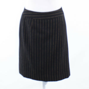 Black gold pinstripe MILLY pencil skirt 8