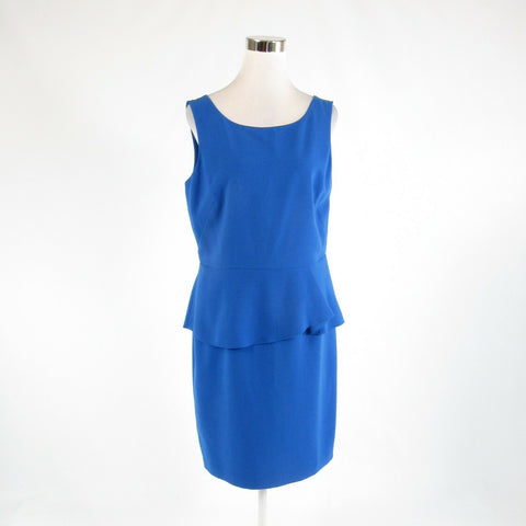 Blue ANN TAYLOR sleeveless peplum dress 12