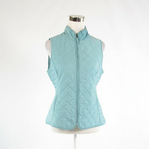 Light blue TALBOTS quilted sleeveless vest PS