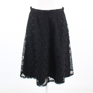 Black geometric lace CALVIN KLEIN A-line skirt 2