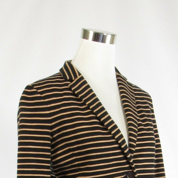 Beige black pinstripe cotton blend J. CREW long sleeve blazer jacket S-Newish