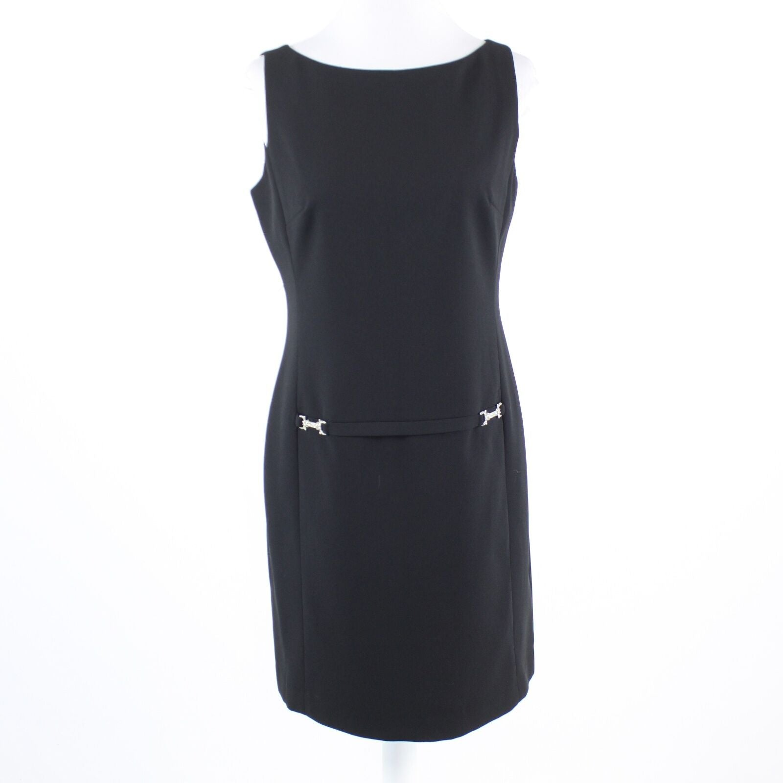 Black LAUNDRY By Shelli Segal sleeveless sheath dress 8 NWT $200