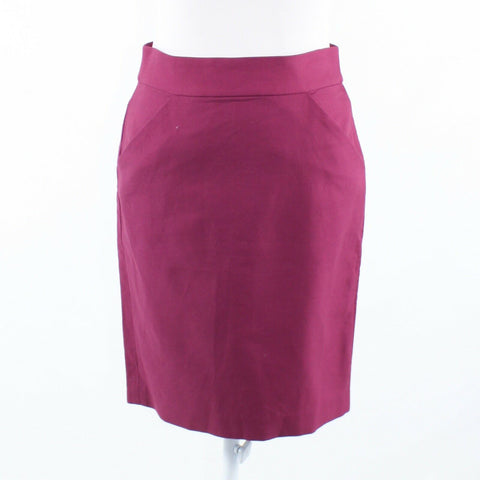 Fuchsia pink 100% cotton J. CREW The Pencil Skirt pencil skirt 0
